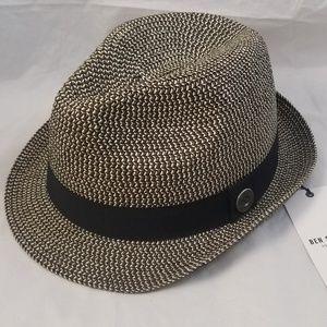 Ben Sherman Accessories - New BEN SHERMAN Paper Straw Trilby Hat Black Tan f000265dee94